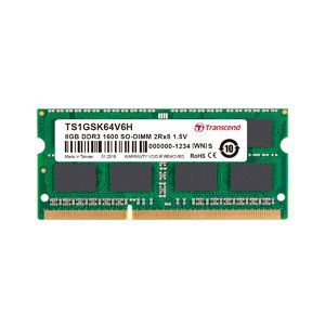 トランセンド(Transcend) 【SO DIMM ノートPC用】【DDR3-1600 PC3-12800】【8GB】TS1GSK64V6H