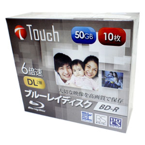 Touch BR50DVJW10S6 BD-R BDR DL 50GB 6倍速 10枚