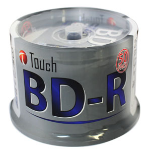 Touch BR25DPW50SP BD-R 25GB 6倍速 50枚