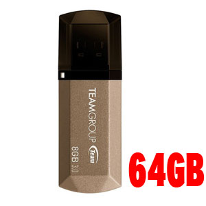 チーム(Team) 【USB3.0メモリー 64GB】TC155364GD01