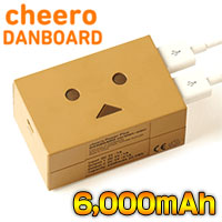 チーロ cheero モバイルバッテリー 6000mAh DANBOARD version -mini- CHE-047