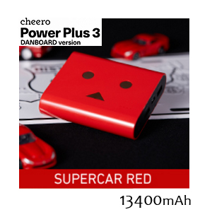 チーロ cheero モバイルバッテリー cheero Power Plus 3 13400mAh DANBOARD CHE-067-RE スーパーカー Supercar