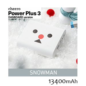 チーロ cheero モバイルバッテリー cheero Power Plus 3 13400mAh DANBOARD CHE-067-WH スノーマン Snowman