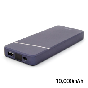 チーロ cheero モバイルバッテリー cheero Stream 10000mAh with Power Delivery 18W CHE-103-NB ネイビーブルー