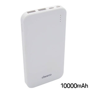 チーロ cheero モバイルバッテリー cheero Bloom 10000mAh White CHE-107-WH
