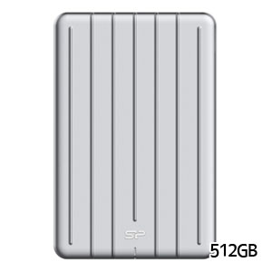 シリコンパワー silicon power Portable SSD Bolt B75 外付けSSD 512GB SP512GBPSDB75SCS