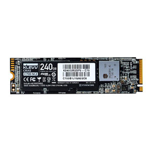 KLEVV SSD 240GB K240GM2SP0-C70【CRAS C700  NVMe PCIe Gen3x4 M.2 2280 SSD】R=1500MB/s W=1000MB/s