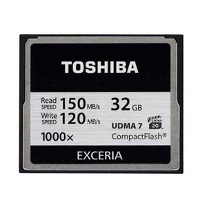 TOSHIBA海外パッケージ 【CF コンパクトフラッシュ 32GB】CF-032GTR8A EXCERIA 1000倍速 R 150MB/s /W 120MB/s