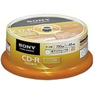 ソニー SONY 20CDQ80GPWP CD-R CDR 700MB データ用 20枚
