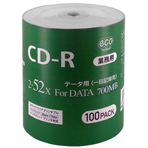 ハイディスク HI DISC CR80GP100_BULK (CD-R 700MB 100枚)