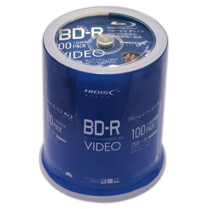 ハイディスク HI DISC VVVBR25JP100 BD-RE BDRE 25GB 2倍速100枚